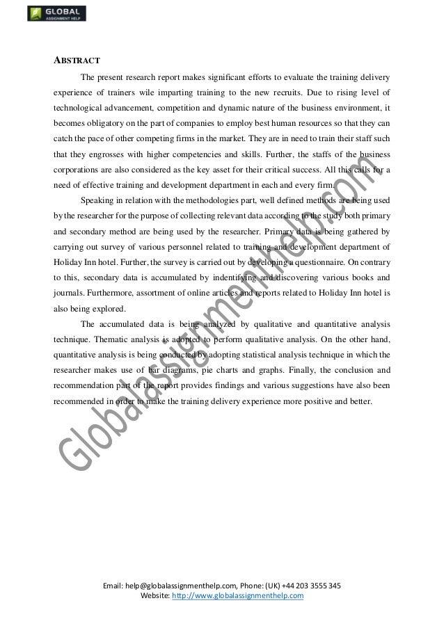 Dissertation induction training