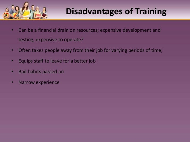 disadvantages of in house training We've noticed an increase in demand from our clients to organise in-house or  onsite training in a wide range of topics including management.