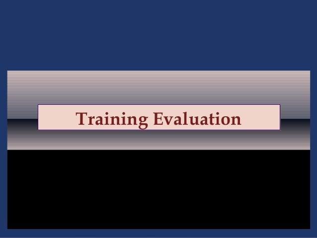 Training evaluation   ppt 6