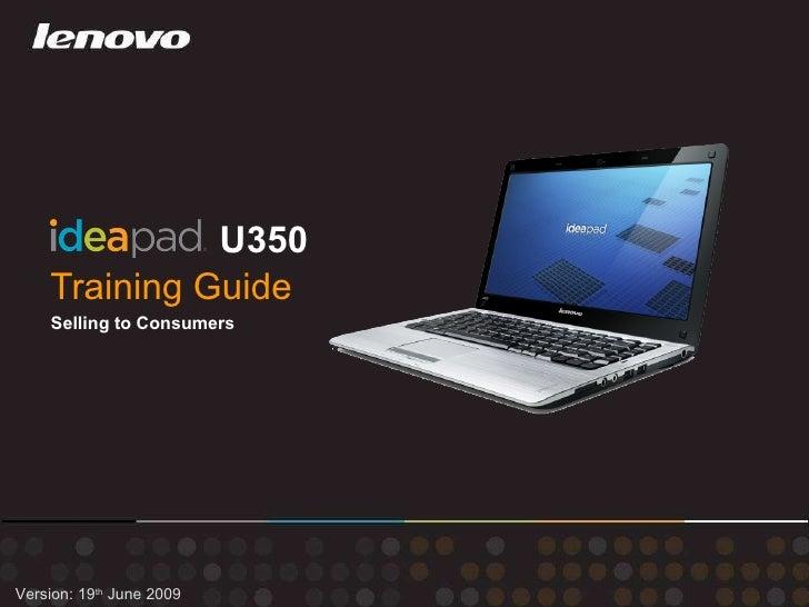 Training Guide   Idea Pad U350 Consumer June19