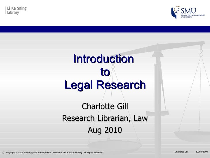 LRW: Introduction to Legal Research