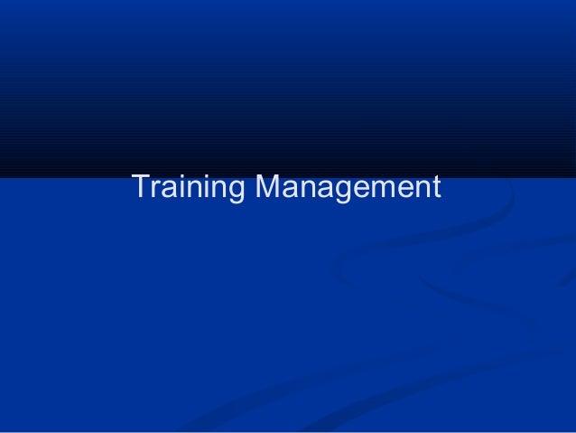 Training management (training for handbook)