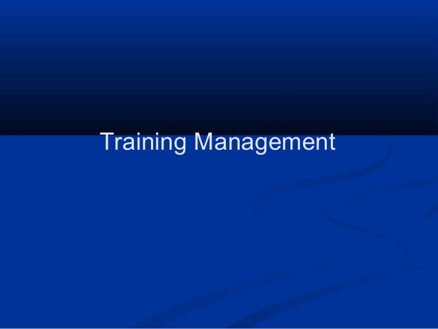 Training management (training for handbook)