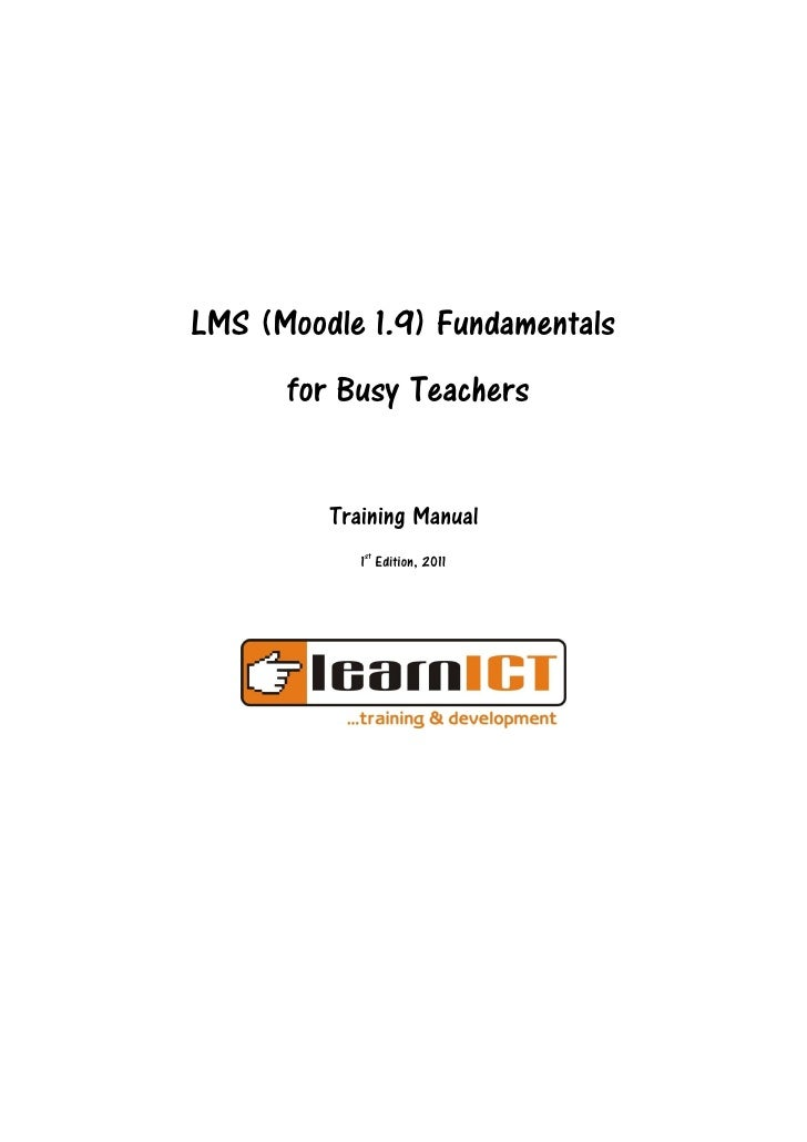 Moodle 1.9 for Busy Teachers