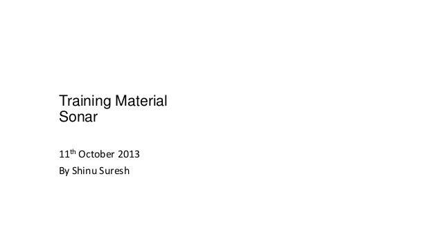 Training material   sonar v1