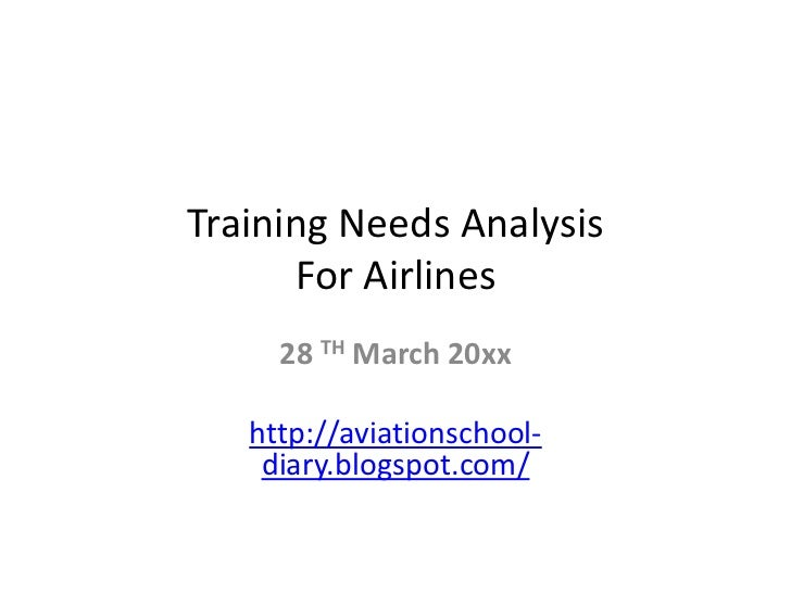 Training needs analysis for airlines