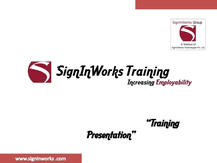 """TrainingPresentation"""