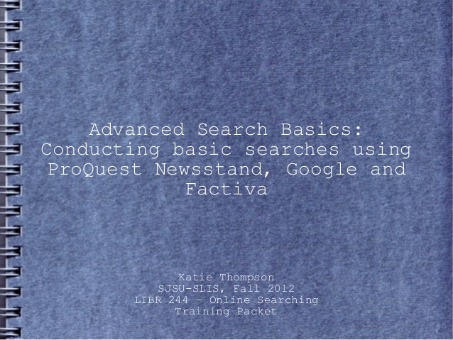 Advanced Search Basics
