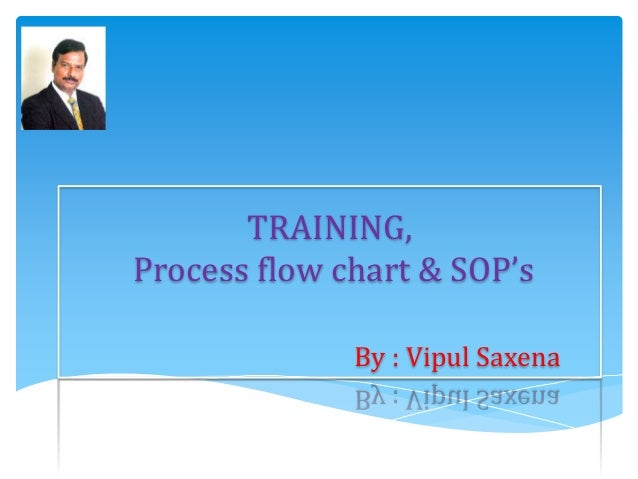 TRAINING, Process flow chart & SOP's By : Vipul Saxena