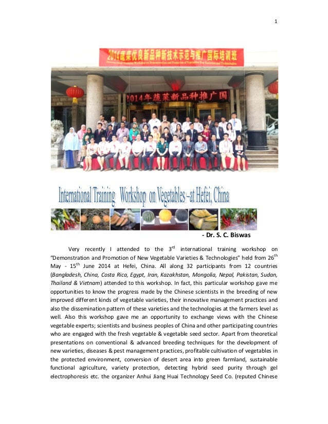 """Very recently I attend """"Demonstration and Promotion of May - 15th June 2014 at Hefei, China. All along 32 (Bangladesh, Chi..."""
