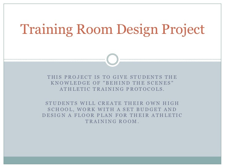Training Room Design Project