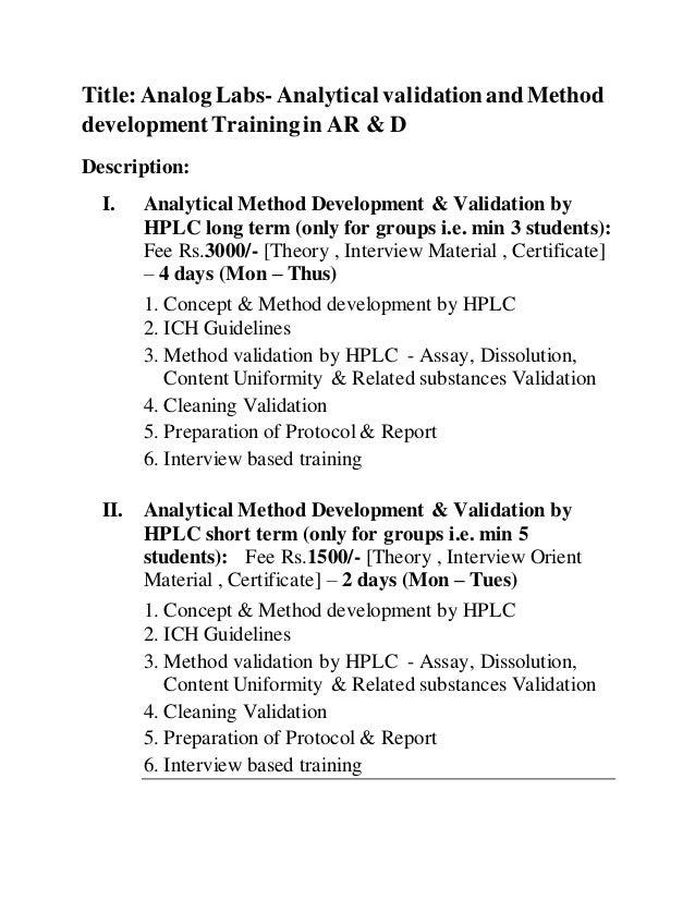 Dissertation analytical method development by hplc graduating high school essays