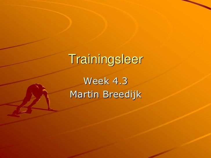 Trainingsleer 1e jaar 4.3 uitleg verwerking climaxloop