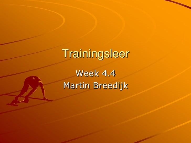 Trainingsleer 1e jaar 4.4 triathlon