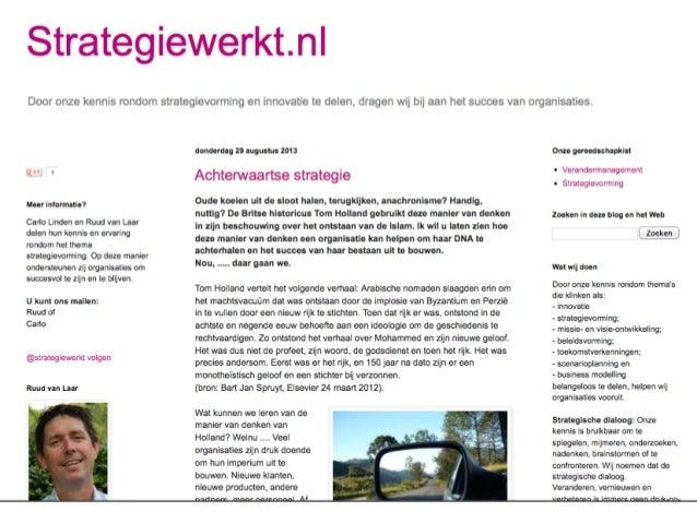 Training strategievorming en innovatie