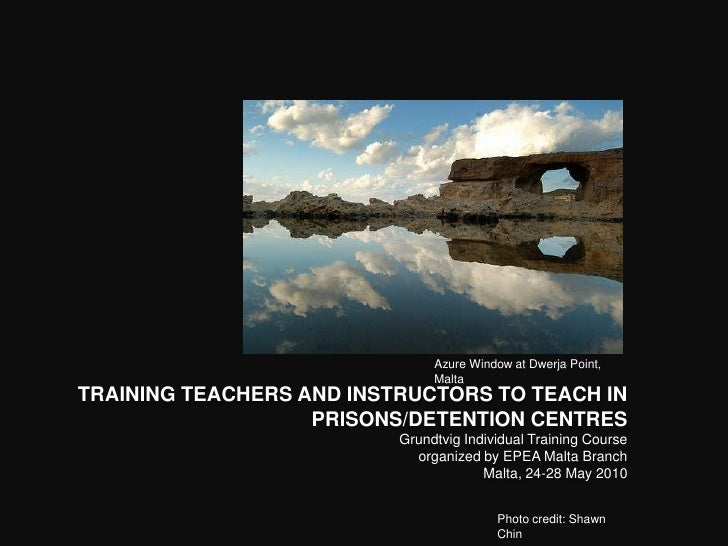 Training teachers and instructors to teach in prisons