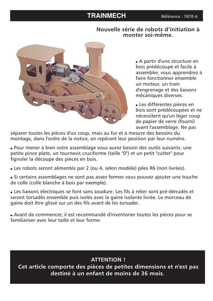 TRAINMECH                        Référence : 7870-6                                            Nouvelle série de robots d'...