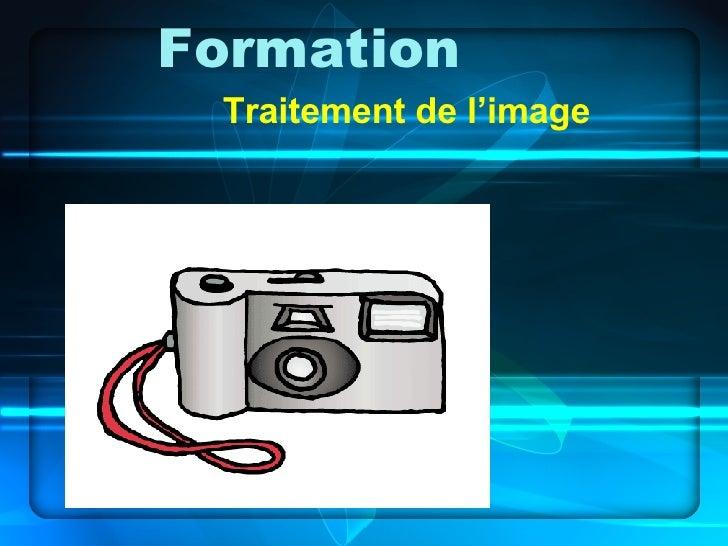 Formation Traitement de l'image