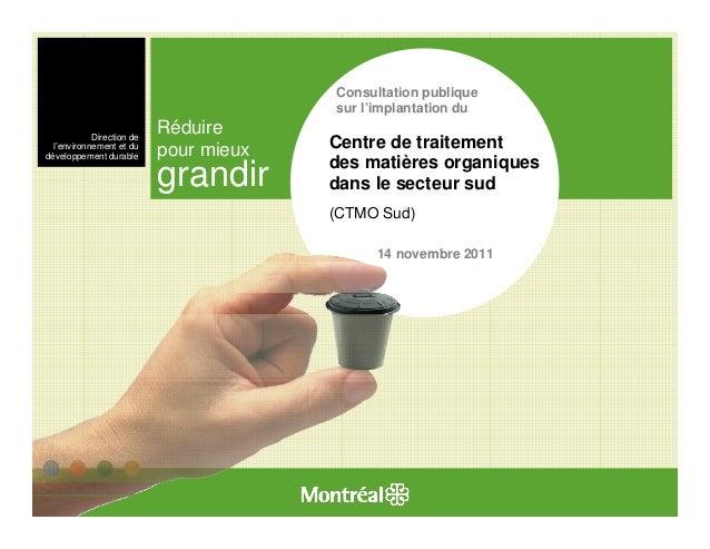 Traitement des matières résiduelles - Présentation La Salle (14 novembre 2011)