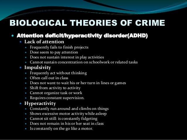 Genetic and Environmental Influences on Criminal Behavior