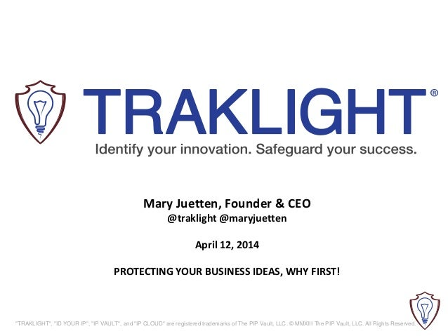 Traklight | 85 Broads How to Prepare for Funding | IP