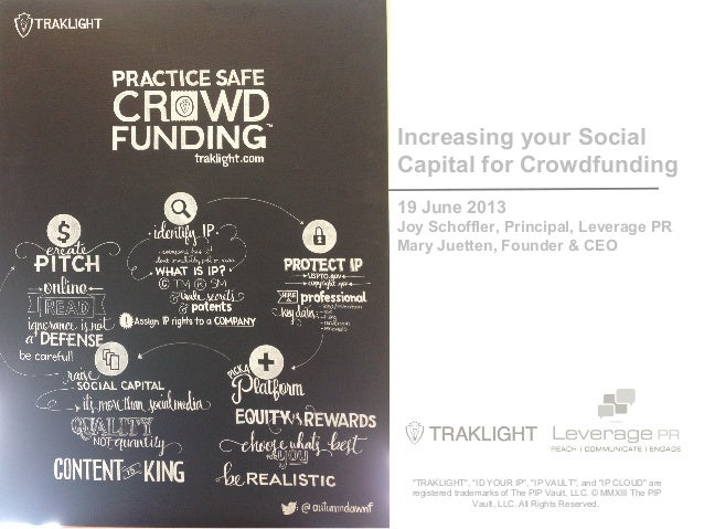 Increase your Social Capital for Crowdfunding: Practice Safe Crowdfunding