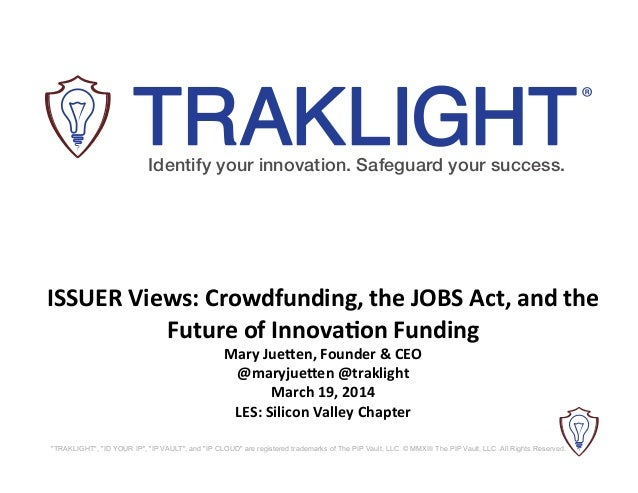 LES SV Slides: Innovation and the JOBS Act