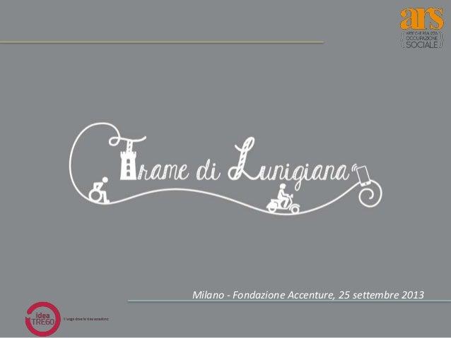 Milano - Fondazione Accenture, 25 settembre 2013