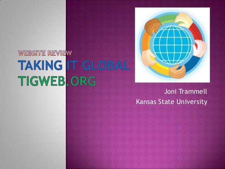Website Review: TIGWEB (Joni Trammel)