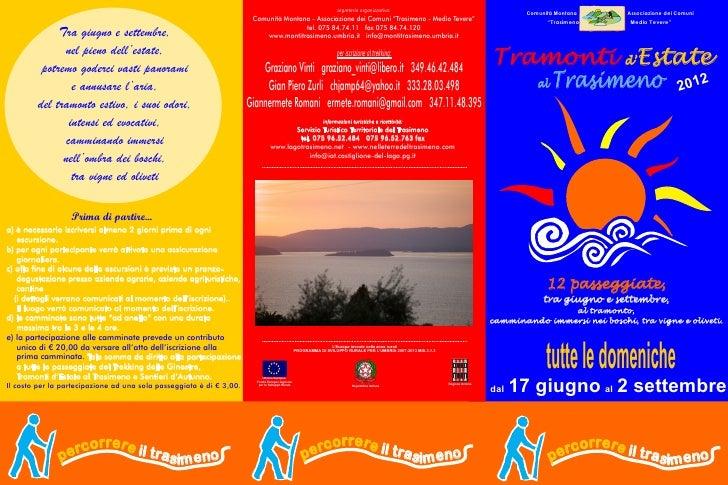 Tramonti d'Estate al Trasimeno - Programma 2012