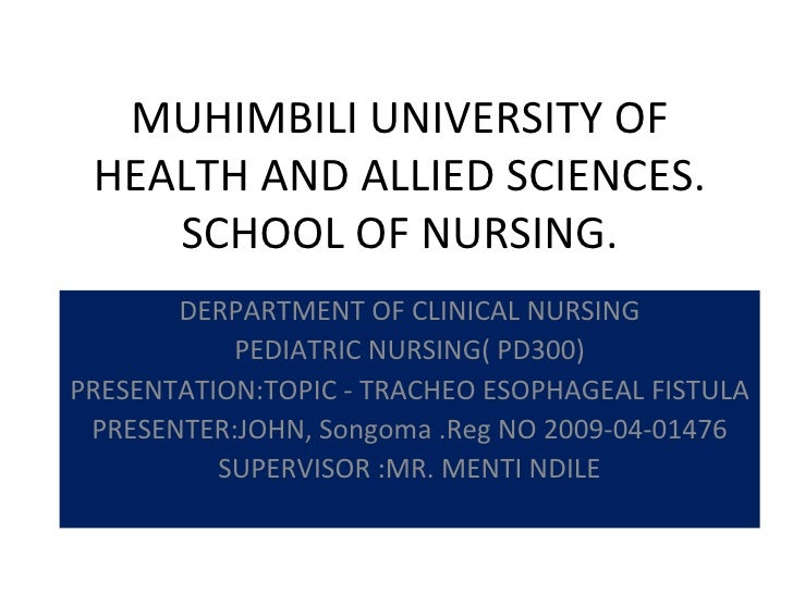 MUHIMBILI UNIVERSITY OF HEALTH AND ALLIED SCIENCES.    SCHOOL OF NURSING.       DERPARTMENT OF CLINICAL NURSING           ...