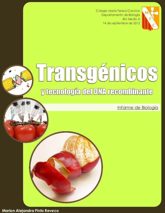 Colegio María Teresa Cancino                                   Departamento de Biología   eso                             ...