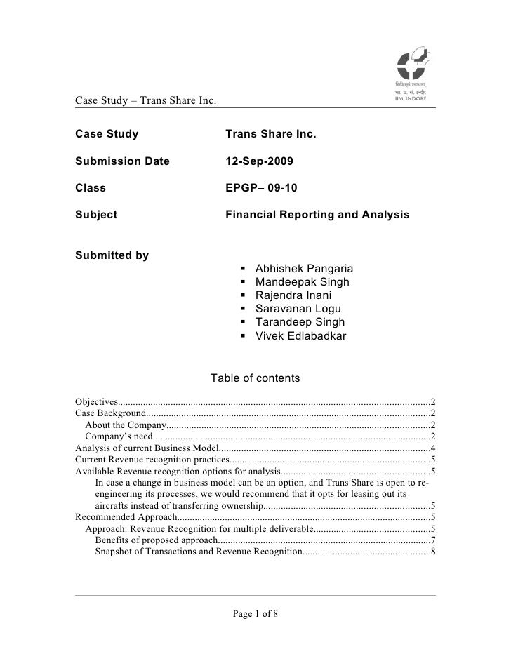 Trans share inc - case study submission 12 sep 09 v1.1
