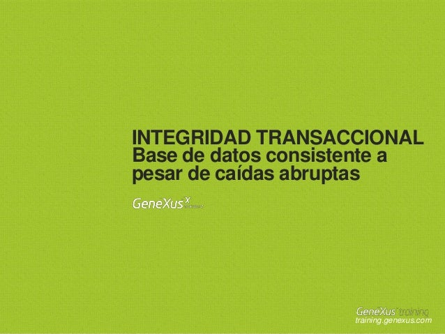 Transactional integrity sp