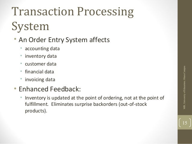 transaction processing system essay Transaction processing system - management information system by deborahsharon in types  school work  essays & theses and tps.