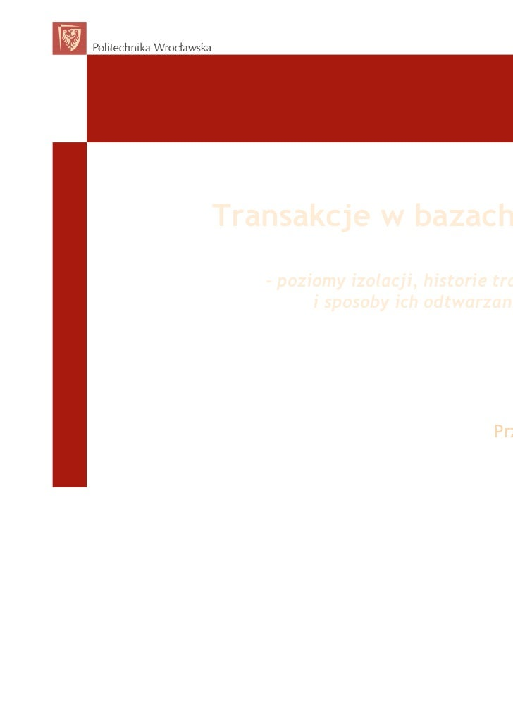 ACID - Transakcje