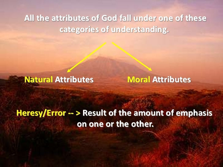 an analysis of the physical and ethical attributes of god in christianity And while both muslims and christians recognize positive attributes in one  another, tensions  download a pdf of the executive summary in.