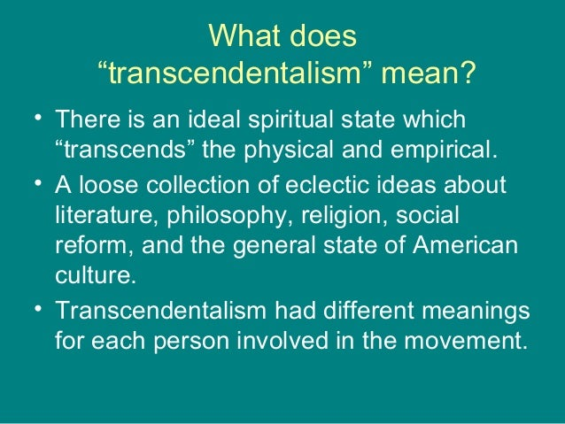transcendentalism in emersons writing 2 essay
