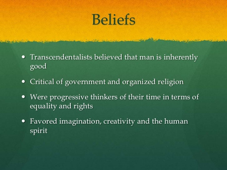 Transcendentalism Essays