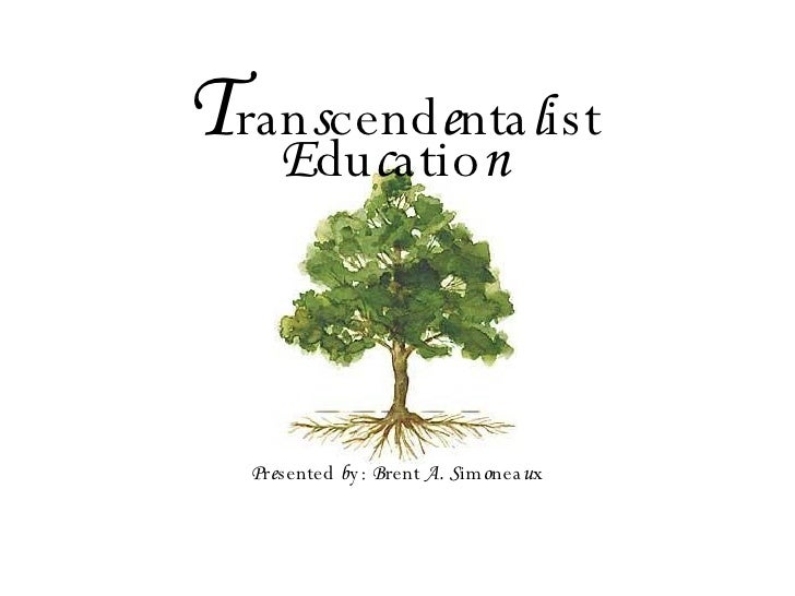 Transcendentalist Education Lecture