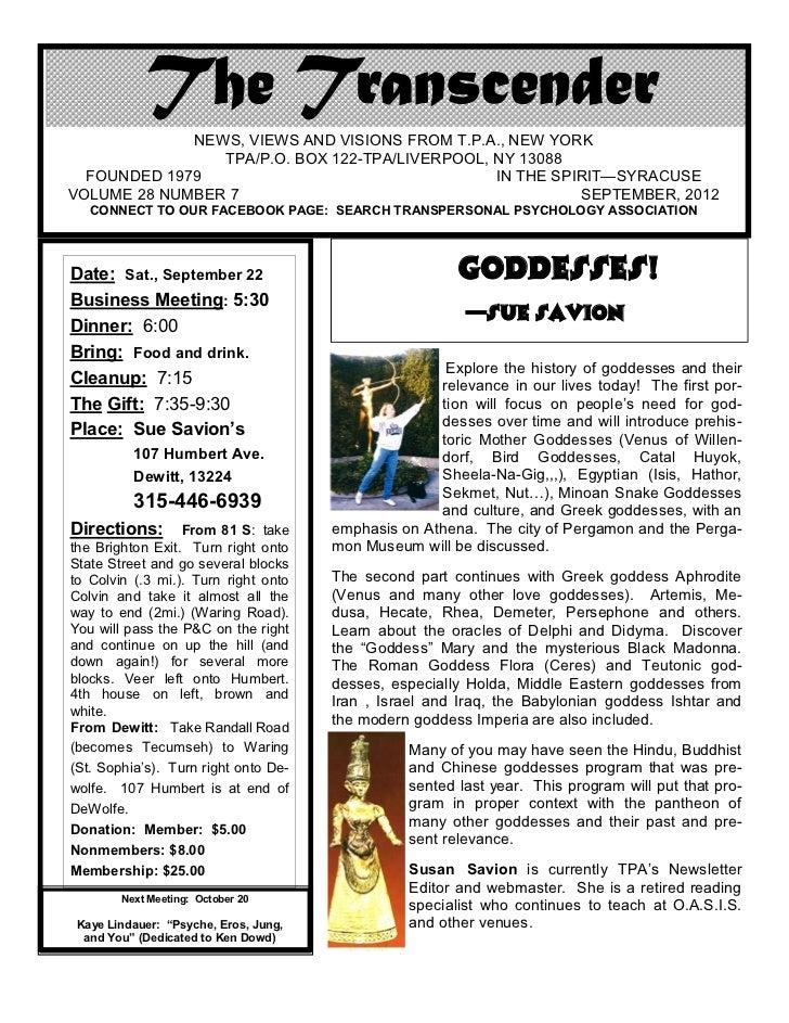 Transcender sept 22, 2012
