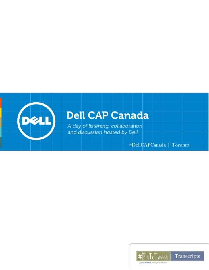 Dell CAP Canada - A day of listening, collaboration, and discussion hosted by Dell
