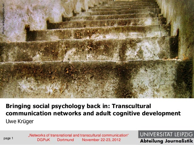 Photo: wallpaperstock.net                            Bringing social psychology back in: Transcultural                    ...