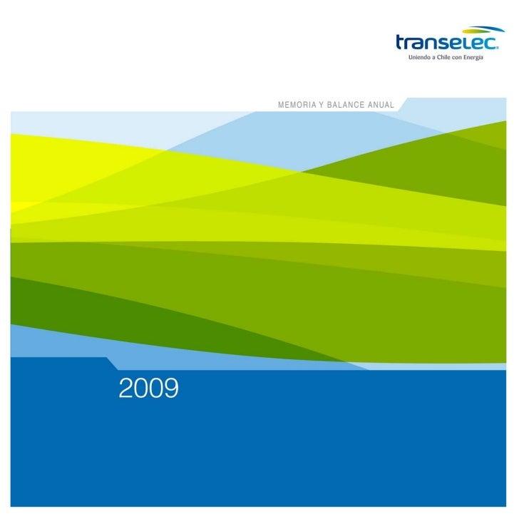 memoria y balance anual   2009