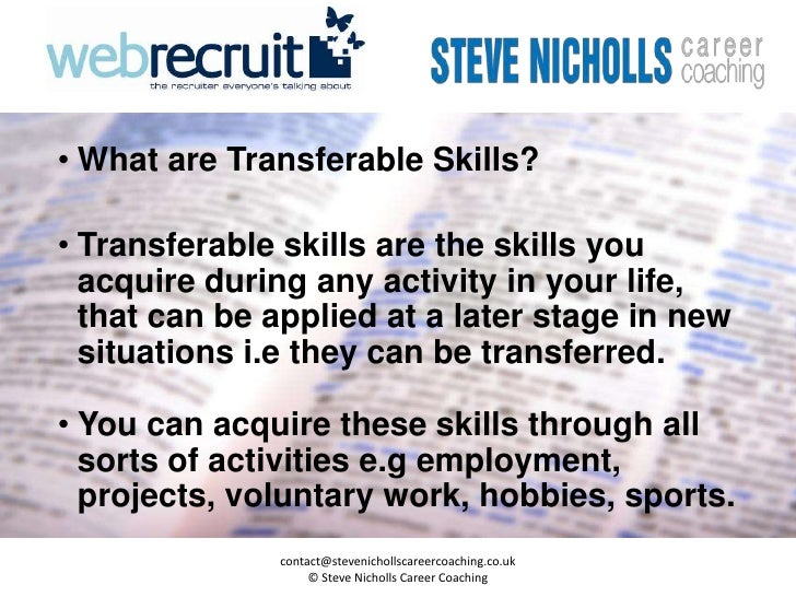 Great Resume Checklist Of Transferable Skills Photos - Example ...