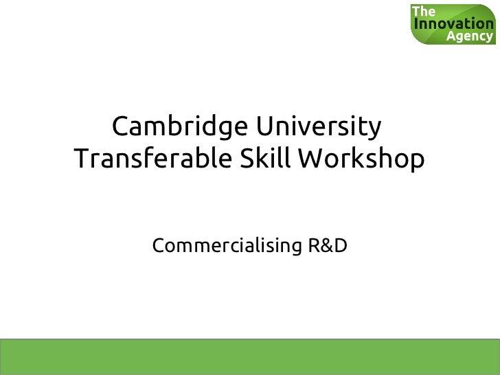 The Innovation Agency transferable skills workshop 2