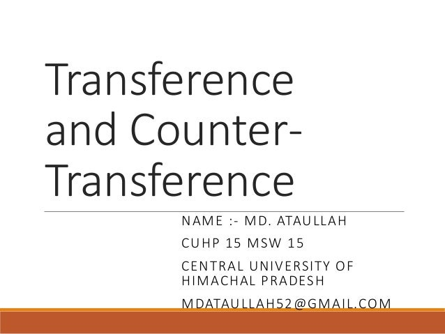 Countertransference Essays (Examples)