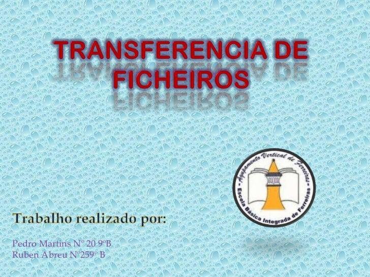 Pedro Martins Nº 20 9ºBRuben Abreu Nº259º B