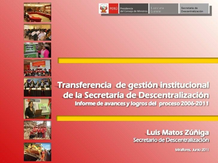 Secretaría General Secretaria de Descentralización