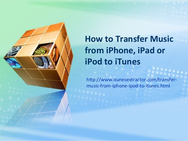 how to download music from itunes to ipod